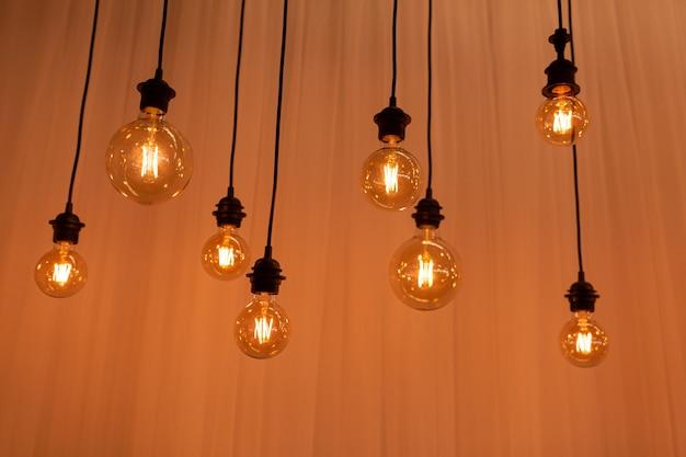 Mooie retro edison licht lamp decor, licht lamp elektriciteit opknoping versieren interieur