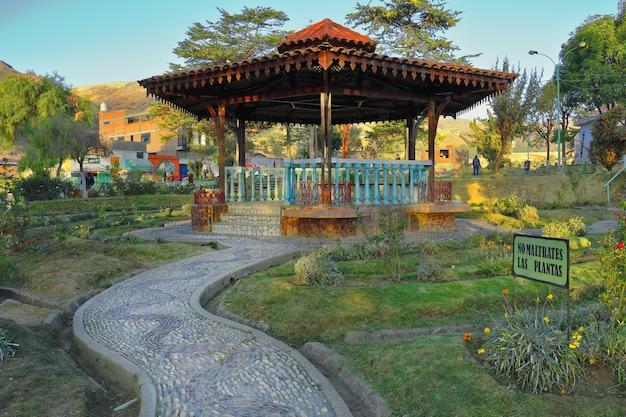 Mooie rotonde in landelijk park