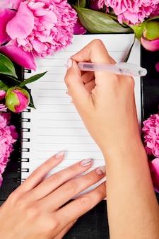 Mooie roze pioen bloemen