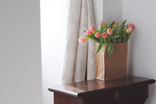 Mooie roze tulpen