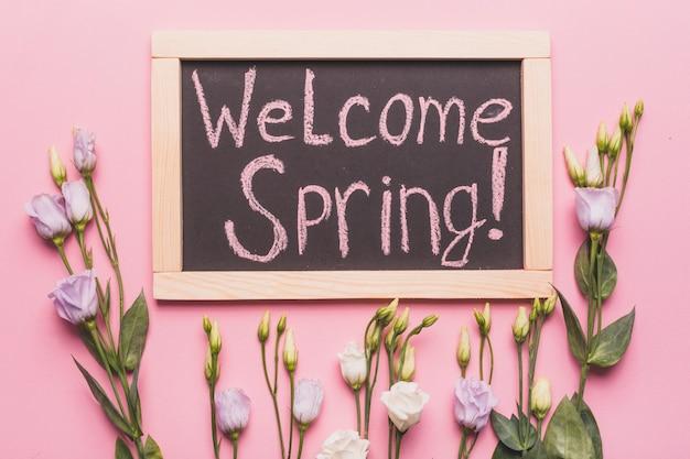 Mooie rozen bij welcome spring-schrijven