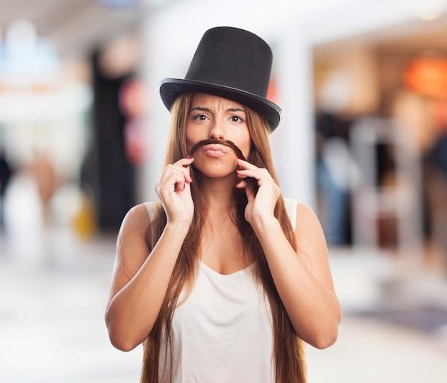 Mooie sensualiteit brunette achtergrond model