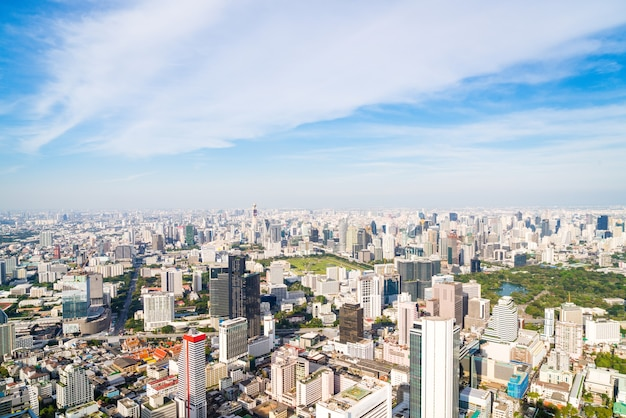 Mooie stadsgezicht met architectuur en gebouw in bangkok
