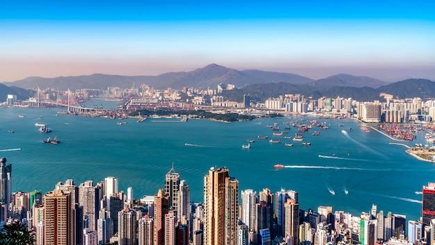 Mooie stadshorizon van hong kong, china