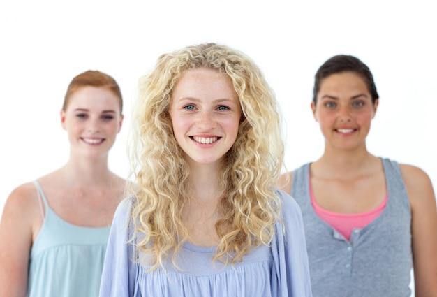 Mooie tennage meisjes glimlachen