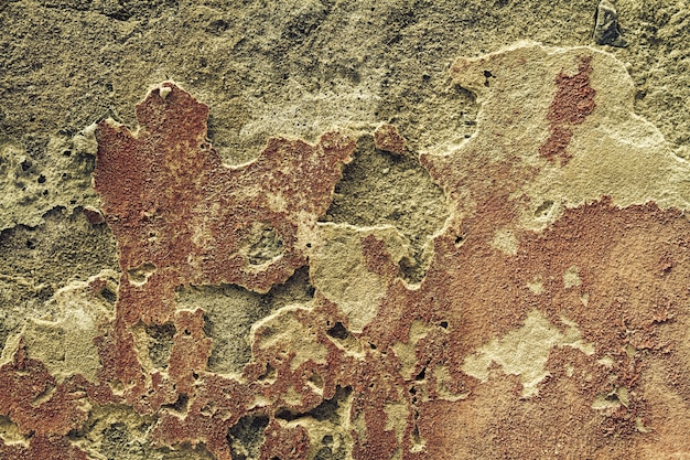 Mooie textuur oude gebarsten muur, horizontaal. copy space. vrije ruimte voor tekst.