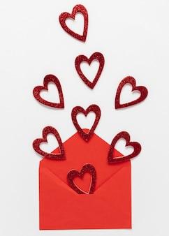 Mooie valentijnsdag concept met kopie ruimte
