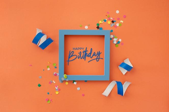 Mooie verjaardag met feestdecoratie