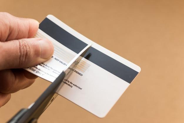 Mooie verknipte creditcard