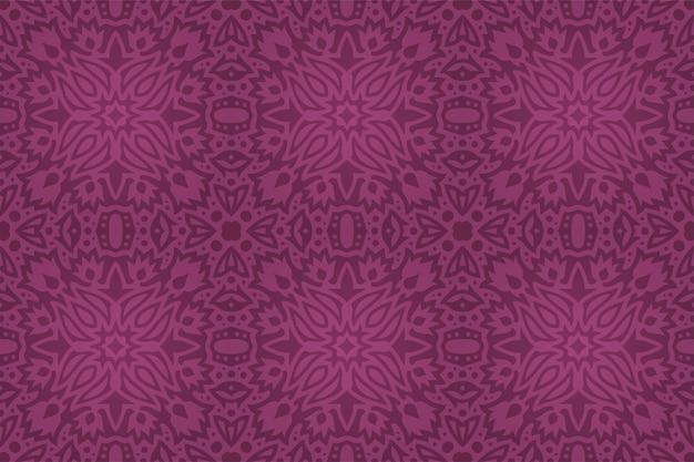 Mooie vintage achtergrond met abstracte kleurrijke paarse bloemen tegel naadloze patroon
