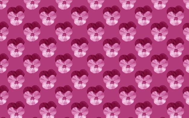 Mooie viooltjesbloemen. bloeiend viooltjes naadloos patroon. bloemen natuurlijke achtergrond.