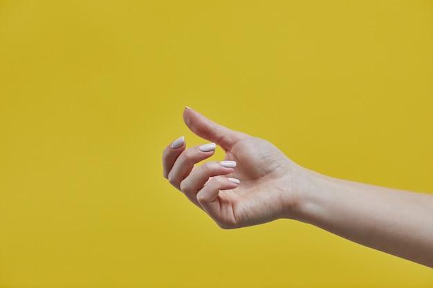 Mooie vrouw hand