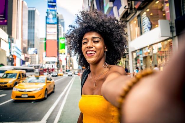 Mooie vrouw in new york