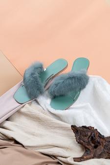 Mooie vrouw mode schoenen