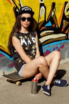 Mooie vrouw op straat