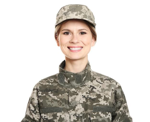 Mooie vrouwelijke soldaat