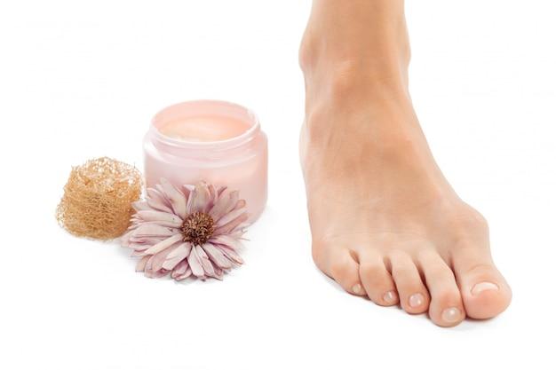 Mooie vrouwelijke voeten bij kuuroordsalon