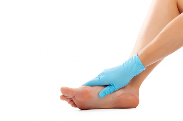 Mooie vrouwelijke voeten op spa salon