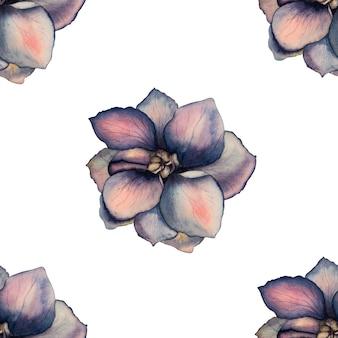 Mooie waterverftekening van heldere bloemen. detailopname