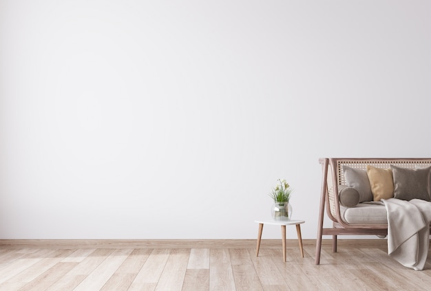Mooie woonkamer met minimalistisch design