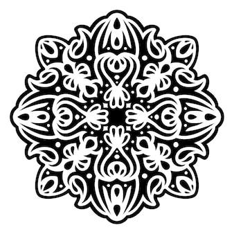 Mooie zwart-wit vectorillustratie met abstracte zwarte tribal tattoo patroon geïsoleerd op de witte background
