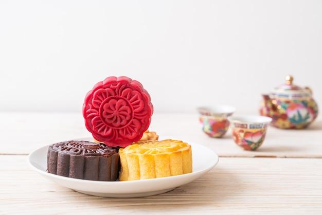 Moon cake rode fluwelen smaak voor mid-autumn festival