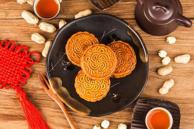 Mooncake, chinees medio herfstfestivalvoedsel.