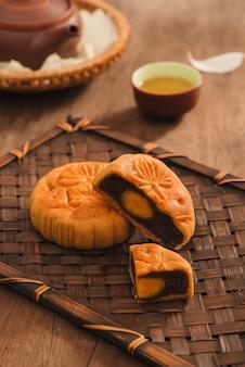 Mooncakes, vietnamese gebakjes die traditioneel worden gegeten tijdens het mid-autumn festival