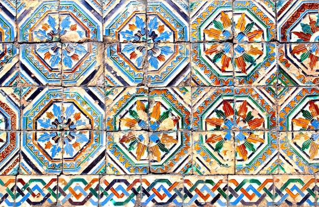 Moorse keramische tegels (circa 14e eeuw), andalusië, spanje