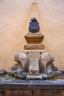 Mora de rubielos-fontein in teruel spanje