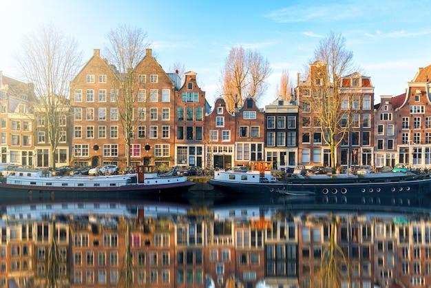 Morning view in amsterdam