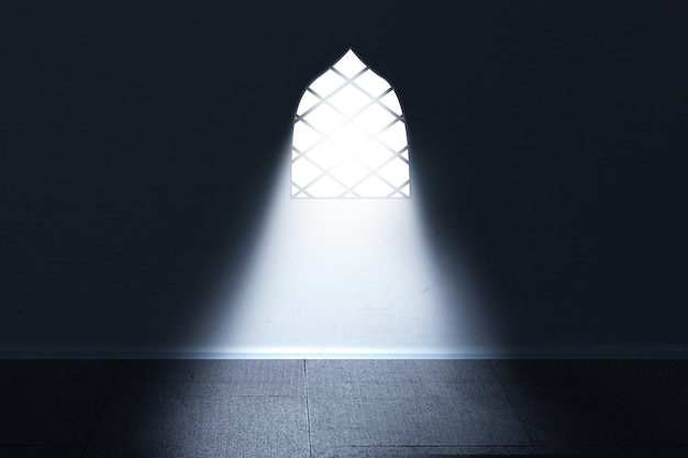 Moskee raam met helder licht