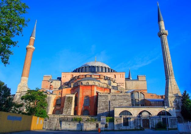 Moskee van istanboel en aziatische zijhorizon, istanboel