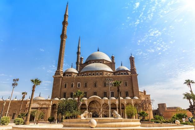 Moskee van muhammad ali, citadel van caïro in egypte.