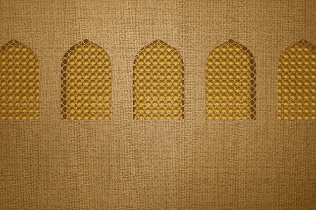 Moskee venster met gestructureerde achtergrond