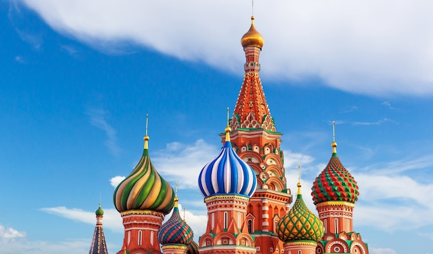 Moskou. st. basil kathedraal