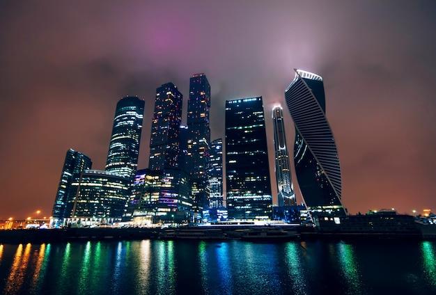 Moskou-stad. internationaal zakencentrum van moskou. rusland
