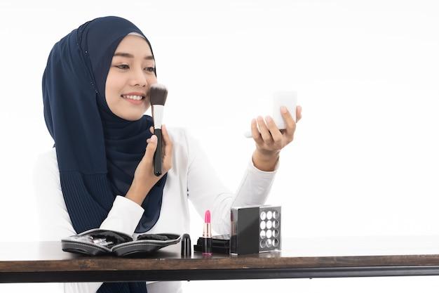 Moslim gezicht schoonheid cosmetica