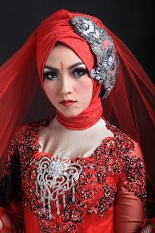 Moslim make-up en mode bruiloft