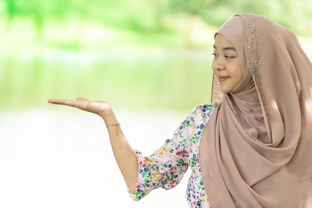 Moslim meisje portret