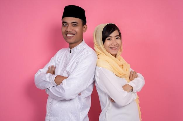Moslim paar in de studio