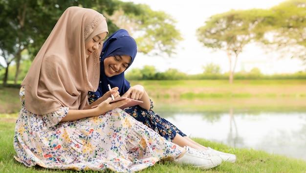 Moslim tiener sociale media
