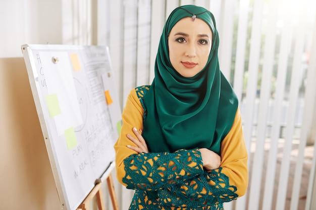 Moslim vrouwelijke ondernemer