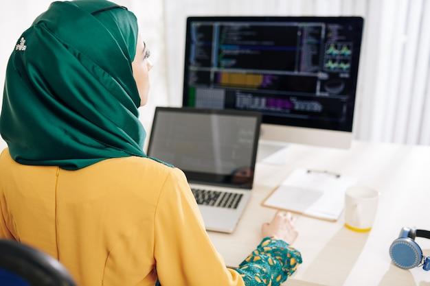 Moslimvrouw codering