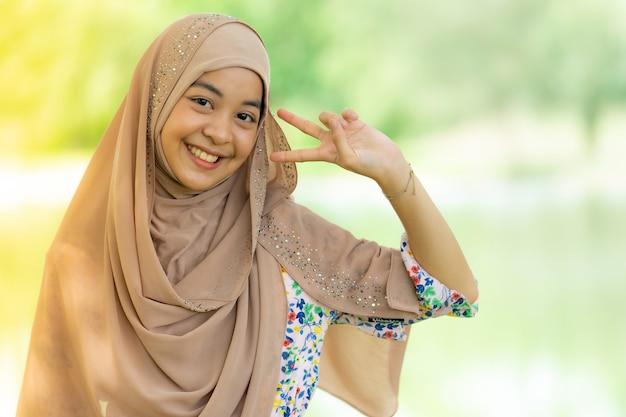 Moslimvrouw portret