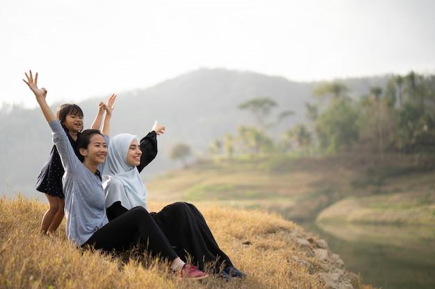 Moslimvrouwenvriend en dochter