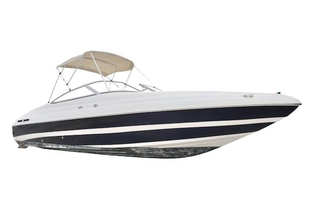 Motorboot geïsoleerd op wit