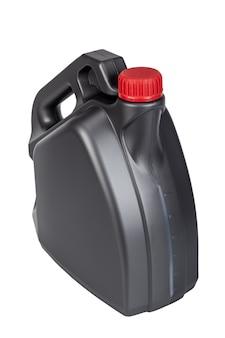 Motorolie plastic kan geïsoleerd op een witte achtergrond