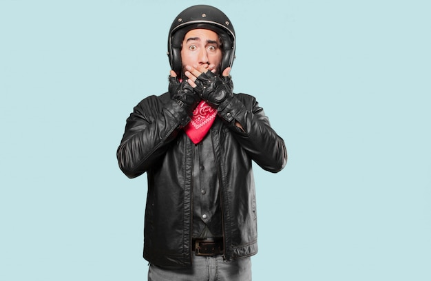 Motorrijder bang of bang