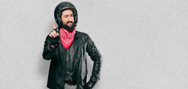 Motorrijder boos of mee oneens